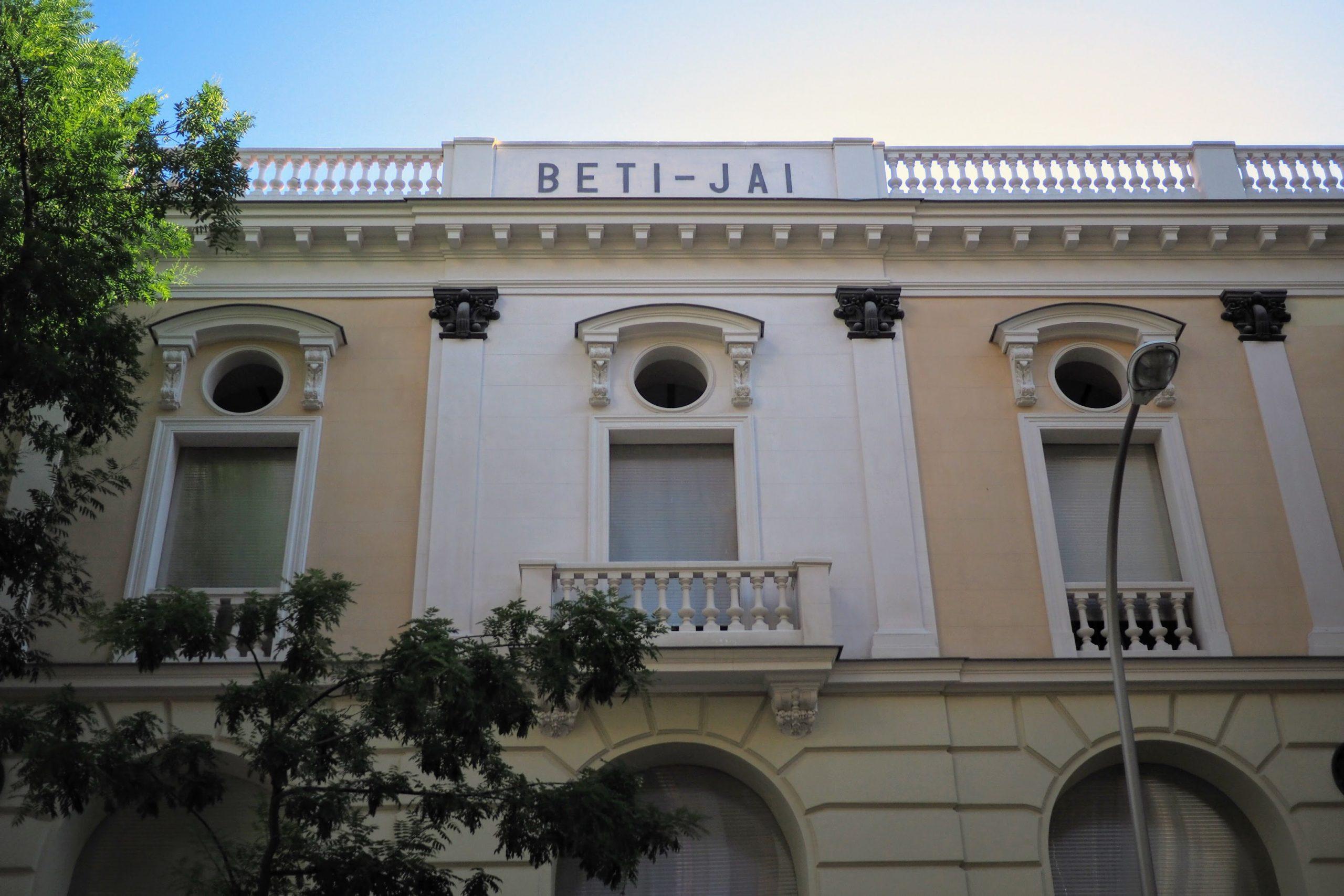The neo-classical facade of Beti Jai