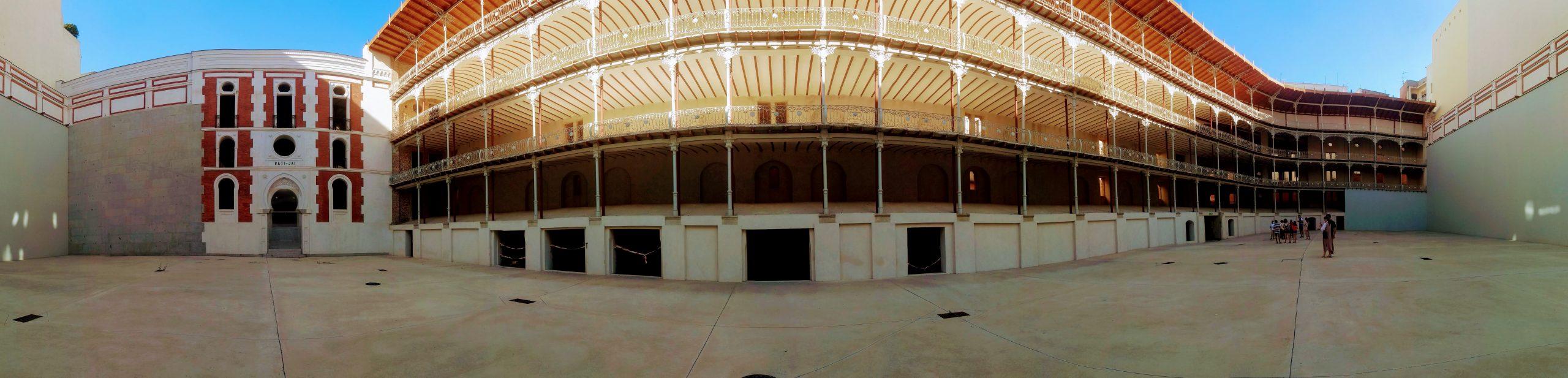 Panoramic of the interior of Beti-Jai jai ali court in Madrid