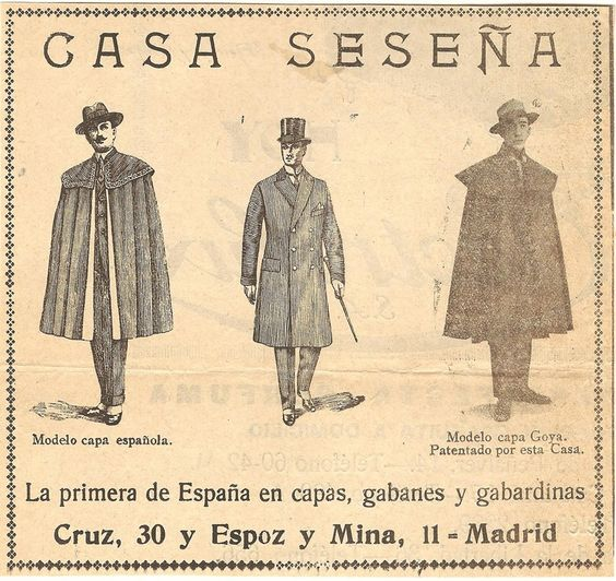 An old advertisement for Capas Seseña