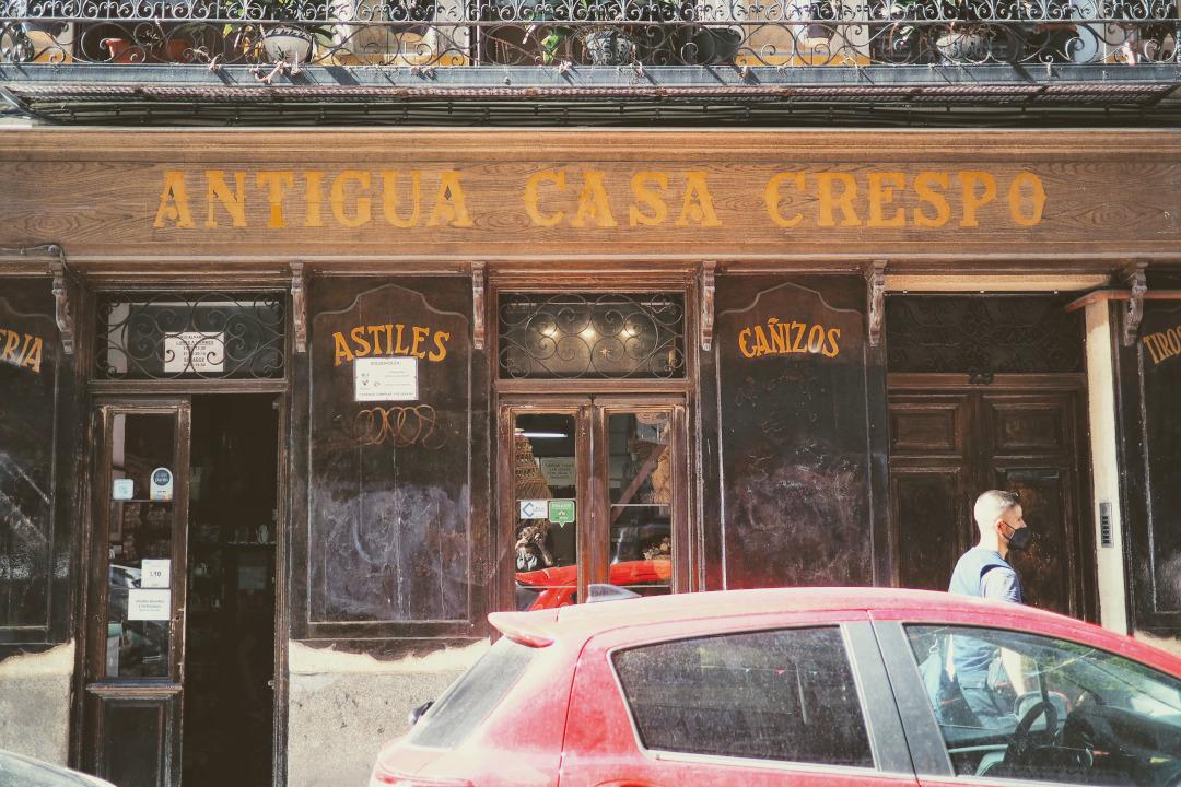 The façade of Antigua Casa Crespo